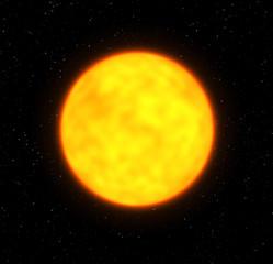 Sun graphic element suitable for compositions (3D rendering)