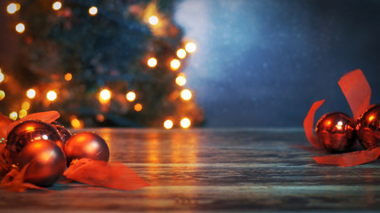 Christmas blurred background for your wishes or your Xmas best deals. Ideal for product placement in the middle of the frame