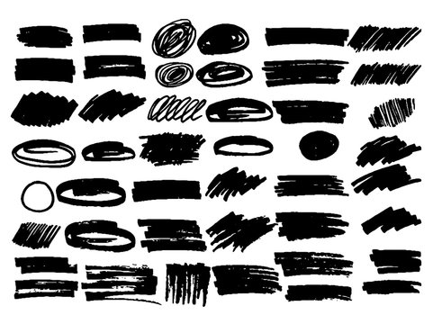set of elements for design photoshop brush
