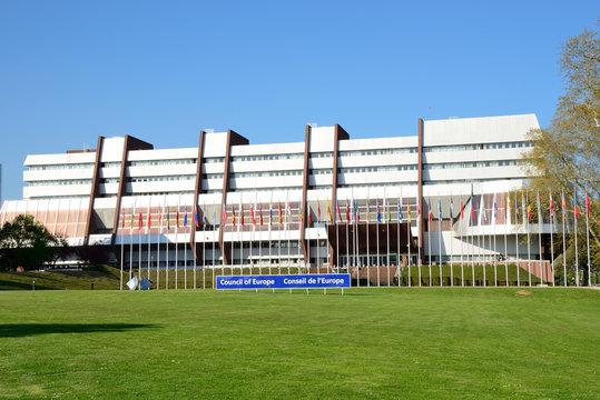 Siège du conseil de l'Europe à Strasbourg le 19 avril 2018 – Council of Europe headquarters in Strasbourg, France, on April 19, 2018