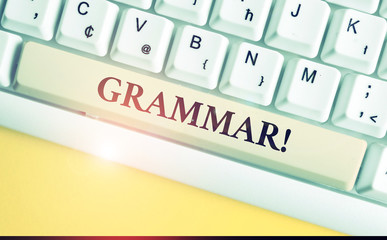 Handwriting text writing Grammar. Conceptual photo whole system structure language syntax and...