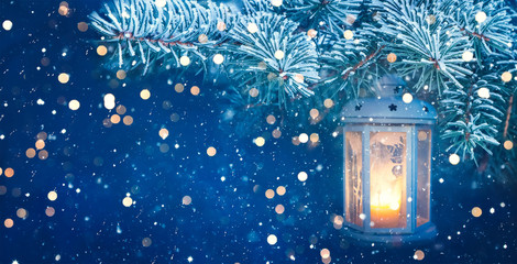 Beautiful Christmas and New Year holidays background