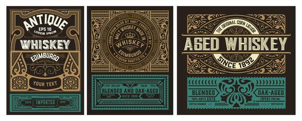 Set of 3 vintage labels for packing