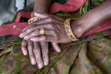 A Woman's Hands in Sri Lanka