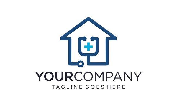 Creative and professional medical home logo design vector editable