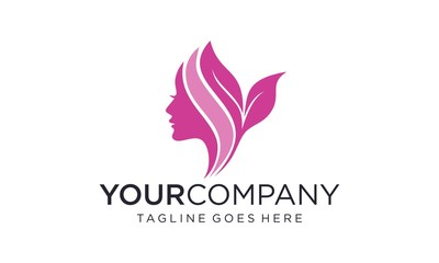 Simple and creative beauty skin care logo design vector