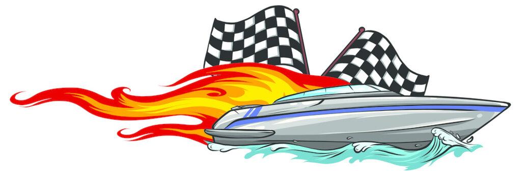 Boat Graphics, Stripe Vinyl Ready vector illustratio