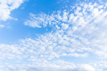 Cloudscape and blue sky background