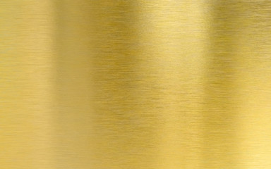 Wall Mural - Saturated golden metal brushed texture plate