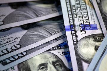 US dollars close-up background