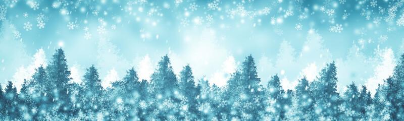 Türaufkleber Pool white snow blur abstract background. Bokeh Christmas blurred beautiful shiny Christmas lights