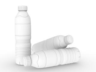 template empty bottle mockup white background , 3d rendering