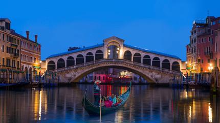 Foto op Aluminium Gondolas Gondola near Rialto Bridge in Venice, Italy