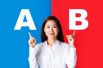 AとB ビジネス女性