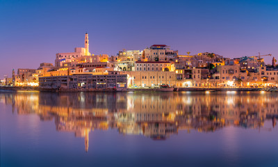 Spoed Fotobehang Havana Beautiful panoramic view of Jaffa port and old town in Tel Aviv, Israel