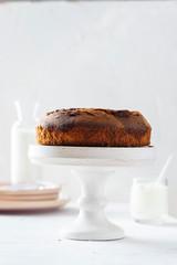 Homemade cake with yougurt and chocolate