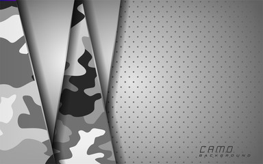 modern white camo abstract background design