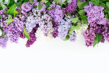 Deurstickers Lilac Fresh lilac flowers