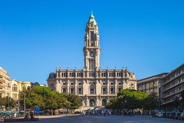 porto city hall, landmark of porto, protugal