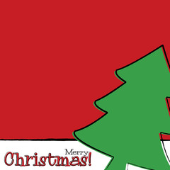 Bright typographic Christmas card in vector format..