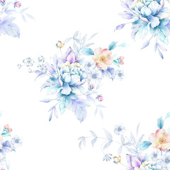 Photo sur Plexiglas Fleurs Vintage Beautiful watercolor flower background illustration