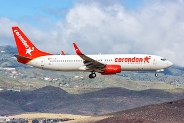 Corendon Airlines Boeing 737-800 airplane Gran Canaria airport