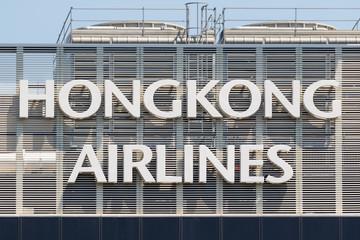 Hongkong Airlines Logo at Hong Kong airport