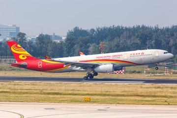 Hongkong Airlines Airbus A330-300 airplane Beijing airport