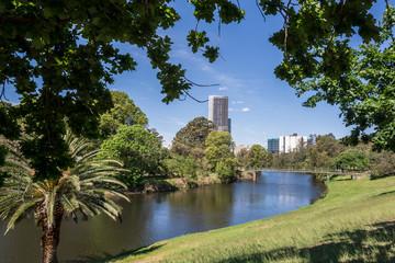 Parramatta river in the Parramatta Park, in the western suburb of Parramatta, Sydney, Australia