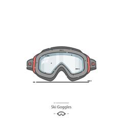 Ski Goggles - Line color icon