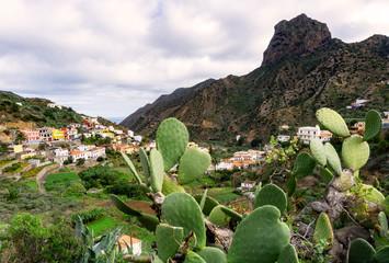 Vallehermoso on the island of La Gomera