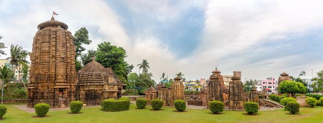 Panoramic view at the Mukteshvara Temple in Bhubaneswar  - Odisha, India