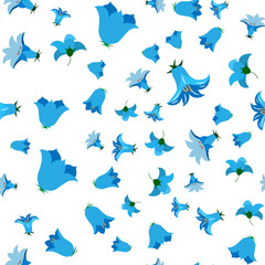 Bell flower. For fabric, baby clothes, background, textile, wrapping paper and other decoration. Vector seamless pattern EPS 10