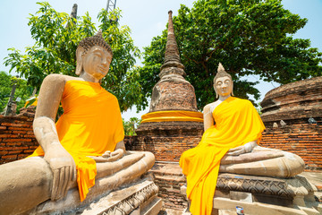 Ancient Buddha Images with pagoda