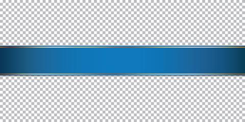 blue ribbon banner on transparent background Fototapete