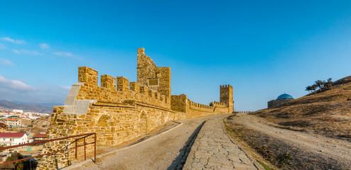 Genoese fortress in Sudak, Crimea