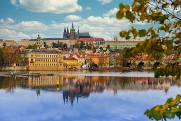 Prague Castle and the Vltva river - Czech republic