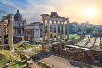 View onto the Fori Imperiali from Piazza del Campidoglio