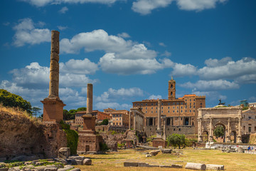 View onto the Fori Imperiali from inside