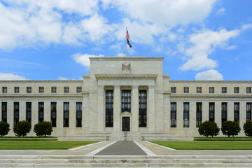 Federal Reserve Building is the headquarter of the Federal Reserve System and 12 Federal Reserve Banks, Washington, District of Columbia DC, USA.