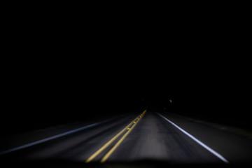 Garden Poster Night highway road