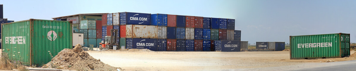 Shipping Container Yard Greece