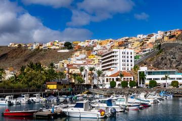 San Sebastián on La Gomera with harbor