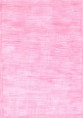 faded pink rectangle sheet of paper colored with pencil.