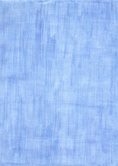 faded blue rectangle sheet of paper colored with pencil.