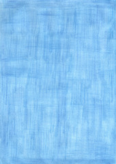 saphire blue rectangle sheet of paper colored with pencil.