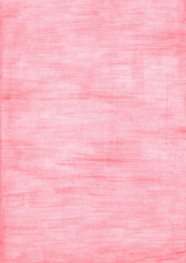 Coral red rectangle sheet of paper colored with pencil.