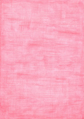 Rose red rectangle sheet of paper colored with pencil.