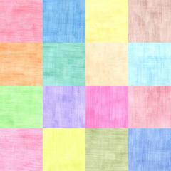 four by four squares collage of colorful sheets of paper