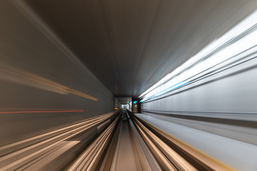 Cartel - Blurred Motion Travel in train on tunnel